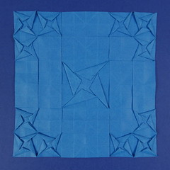 Molecules great and small (Micha Kosmulski) Tags: blue big origami little small great size tessellation molecules ssst tantpaper michakosmulski spreadsunksquaretwist
