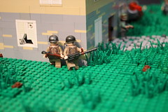Corner ([C]oolcustomguy) Tags: house brick grass us arms lego farm nazi wwii scene can americans citizen destroyed germans brickarms minfigure citizenbrick brickcan