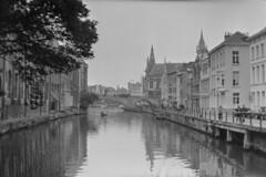 Predikherenlei, Gent. (Robin Geys) Tags: 2 belgium belgie kodak no brownie hawkeye ghent gent ilford fp4 cartridge 125
