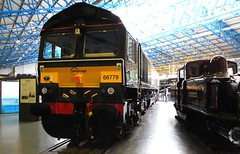 York NRM (GBRf 66702) Tags: york uk england art fashion train canon eos interesting flickr diesel artistic yorkshire rail railway loco trains steam explore signals telephoto british locomotive dslr britishrail nrm nationalrailwaymuseum mustsee steamlocomotive eveningstar 2016 britishrailways class66 steamloco thelast gbrailfreight thelastone class9f inexplore 100d gbrf lastbuilt 66779 telephototrains 210092220