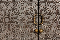 Door Detail, Hassan II Mosque, Casablanca, Morocco (Abhi_arch2001) Tags: door detail architecture bronze king pattern mosque morocco casablanca sultan hassan ornate knob moroccan islamic