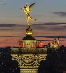 le genie (apparencephotos) Tags: sunset paris montmartre sacrcoeur bastille bastilleday parisien oprabastille bastillegnie