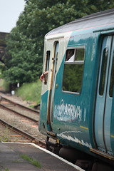 Just waiting for the signal to go. (Barry Miller _ Bazz) Tags: wales train waiting cheshire railway driver 70200mm arriva canonlens 70200l canon5dmark2 helsbyjunction