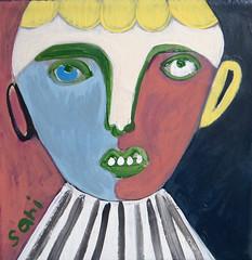 #1324 (sariart2) Tags: original boy abstract art self painting acrylic raw folk outsider ooak naive sari childlike azaria noy taught