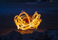 Fire Fun (David Chennell - DavidC.Photography) Tags: night fire lighttrails wirral westkirby merseyside
