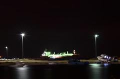 Back at it with boats. (ragamuff_in) Tags: longexposure light sea black night dark boat seaside exposure shoot ship darkness low iso bigship