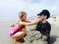 Buried (therealjoeo) Tags: summer vacation beach texas corpuschristi shore padreisland