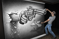 Pencil Vs Camera - 72 (Peace Vs Violence) (dezinemag) Tags: art paper drawing creative benheine pencilvscamera