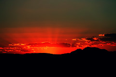 At The End Of The Day (Thank you for 4M+ views.) Tags: sunset red orange sun mountains nature clouds contrast dark wonder landscape golden spain europe natural rays torrevieja