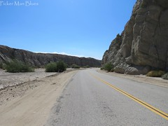 So Cal Road Trip 3 (PickerManBlues) Tags: california road ca sky mountains ahead sand rocks looking desert box down canyon mojave rd chasm blacktop