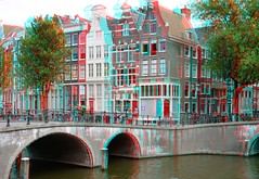 Amsterdam 3D (wim hoppenbrouwers) Tags: holland amsterdam canal 3d anaglyph canals stereo grachten gracht redcyan