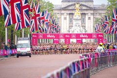 #London10000 (cuppyuppycake) Tags: uk england holiday jack nikon memorial day marathon union bank palace flags 10k runners buckingham 2016 vitality london10000 d7200
