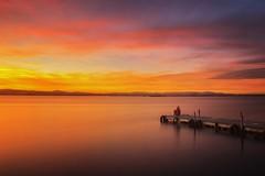 Peace (Anto Camacho) Tags: sunset seascape valencia landscape pier alone peace anochecer albufera largaexposicion longexpoure valenciancommunity bigstopper