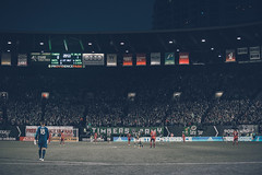 Under the lights at the Portland Timbers game (danieljeremiahvisuals) Tags: ball portland kick soccer timbers soccerplayer