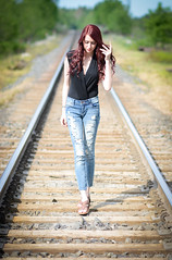 B & C May 28 16-0027 (MoPhotos Photography) Tags: portrait train nikon outdoor tracks 85mm jeans d7100