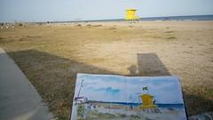 Playa (Fotero) Tags: watercolor mar playa acuarela dibujo usk cuaderno elprat urbansketching urbansketch urbansketcher cuaderno9