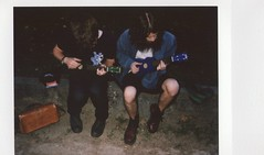 Private concert (Manto Prestipino) Tags: boy portrait youth garden polaroid place ukulele young