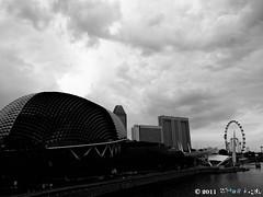 black_white (Squall EC) Tags: river hotel bay flyer singapore esplanade mbs marinabay raffleshotel singaporeflyer marinabaysands
