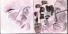 haben nicht wir diese Stadt gebaut und gehrt sie nicht uns und wer ist diese Frau (raumoberbayern) Tags: auto city pink winter bus fall smart car pencil paper munich mnchen landscape herbst tram sketchbook stadt papier landschaft bleistift robbbilder skizzenbuch strasenbahn