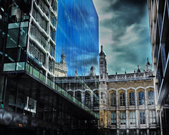 LONDON REFLECTIONS (Simon R Brook) Tags: windows london glass stone architecture concrete refelections d7000 simonrbrook