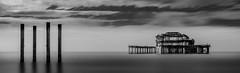 West Pier - Brighton (Aleem Yousaf) Tags: longexposure blackandwhite white black west monochrome pier photo seaside nikon brighton long exposure outdoor walk lee filters brilliant graduated d800 1835mm