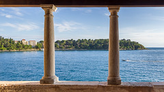 column panoramic view (florian.diebold) Tags: ocean sea beautiful architecture meer view pillar croatia panoramic column baroque rovigno rovinj renaissance barock istria nocomposition