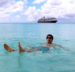 Bahamas 2015: Floating (oliviarempel) Tags: cruise blue vacation water swimming ship floating tropical caribbean bahamas relaxation shallows