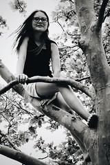 (7thound) Tags: summer vacation portrait holiday playing tree beach girl kid child play outdoor michigan naturallight lakemichigan climbing grandtraversebay elkrapids northernmichigan