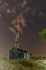 Night 2 (Agustn Achtegui) Tags: sky cloud night stars noche cielo estrellas antena antenna nube caseta