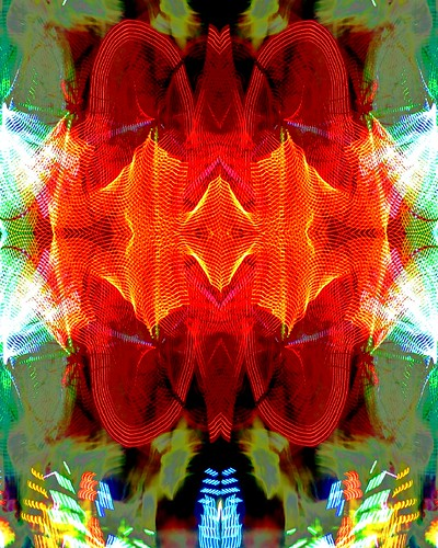 Mandala en rojo/Red mandala.