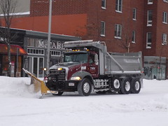 Mack Granite (JLaw45) Tags: road street new winter england urban usa snow storm cold boston america truck construction tipper state metro massachusetts united north newengland dump utility lorry maintenance area granite vehicle metropolis states mass mack northeast contractor metropolitan snowplow beantown