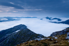 Above the sea of clouds (Camillo Berenos) Tags: greatbritain mountain mountains clouds scotland ridge summit inversion wilderness ridges munro scottishhighlands summits