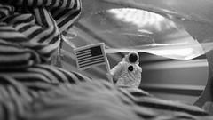 Exploring outside the box (Eddie /.:) Tags: blackandwhite bw usa macro toy perception looking stripes flag exploring unitedstatesofamerica surreal americanflag astronaut plastic fabric imagination littlepeople exploration starsandstripes insideout searching tissuebox macrophotography surreallife spacetraveler outsidethebox miniaturefigures macromondays