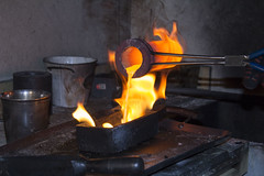 Gold Casting (yafit770) Tags: gold meltedgold melting casting fire flame