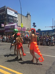 Coney Island Mermaid Parade (Cait_Stewart) Tags: nyc newyorkcity sea horse newyork coneyisland island seahorse shrimp parade squid octopus mermaid coney mermaidparade iphone krill coneyislandmermaidparade