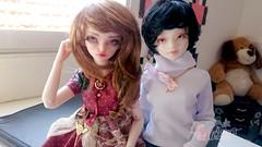 Vicky e Oreo (Aurora Unicorn) Tags: doll ooak victoria clothes bjd unoa faceup lusis minifee rheia