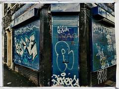 Graffiti, Lower Ashley Road (firstnameunknown) Tags: iphoneography hipstamatic bristol urban art graffiti streetart shop shutters tags