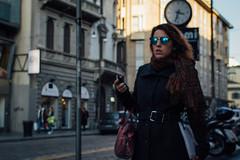 Milano, 2015 (Antonio_Trogu) Tags: italia italy lombardia milano viatorino inverno winter street streetphotography woman girl passer walker walking antoniotrogu nikond3100 2015