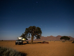 Namibian nights (loveexploring) Tags: africa namibia camper campground camping clearnight desert fullmoon guestfarm landscape longexposure night nightphotography nightsky nightscape star starry namibdesert camelthorn