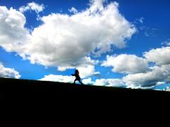 Youth (GOHughes) Tags: portrait skyline clouds landscape child sillouette