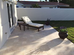 ivory travertine french pattern tumbled
