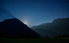 Moonlight (Ulmi81) Tags: blue light summer sky moon mountains alps nature june juni night dark stars landscape mond licht nacht sommer natur himmel olympus berge slovenia moonrise valley midnight moonlight ft alpen blau landschaft zuiko soca dunkel tal omd sterne silhuette em1 slovenian 2016 bovec sternenhimmel kajaking schemen mondlicht mitternacht 1454 mondaufgang