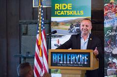 Ride the Catskills (governorandrewcuomo) Tags: usa newyork dec commissioner highmount basilseggos