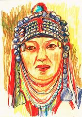 LA RIQUEZA, EST EN EL RESPETO A OTRAS COSTUMBRES (GARGABLE) Tags: portrait gente retrato drawings dibujos diversidad apuntes gargable angelbeltrn