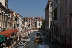 Venice (jeannetbijlsma) Tags: italien blue venice italy water boats boat romantic gondola adriatic gondolas