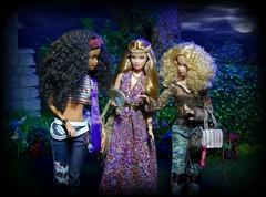 Toyville Festival Goers (MiskatonicNick) Tags: look festival dolls steffi barbie christie diorama playscale