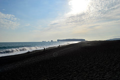 black sand (kmccoolio) Tags: iceland nature travel beach blacksand vk sky clouds landscape