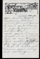 1904_Rosetta_Weiss_to_brother_and_sister_3 (Max Kade Institute for German-American Studies) Tags: westphal family familie genealogy middleton handwriting handwritten script cursive letter brief rosettaweiss weiss