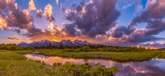 Blacktail Ponds Sunset (Darren White Photography) Tags: sunset mountains clouds landscape wyoming tetons grandteton grandsunset