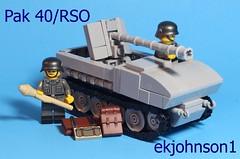 Pak 40/RSO (ekjohnson1) Tags: world two france germany fun virginia war track tank lego russia wwi minifig build pak minifigure moc 2016 pak40 rso brickarms brickfair